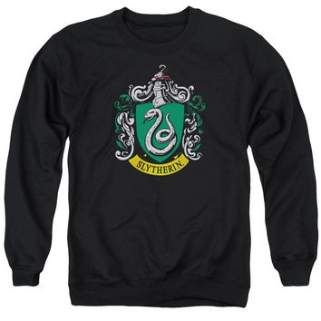 Harry Potter - Slytherin Crest Adult Crewneck Sweatshirt Officially Licensed Apparel