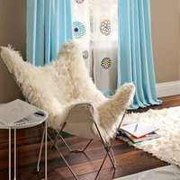 Furlicious Faux Fur Butterfly Chair