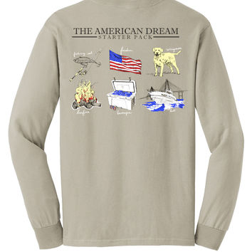 'American Dream Starter Pack' Comfort Colors Long Sleeve