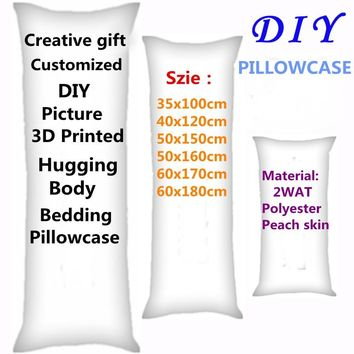 2018 HOT Anime Customized Style pillow Covers DIY Picture two-sides Printed Hugging Body Bedding Pillowcase GIfts 2WT Polyester