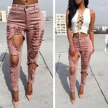 Mandy Boyfriend Jeans (Dusty Rose)
