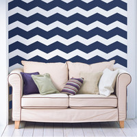 "6"" Wide Chevrons Wall Decals"