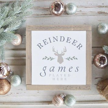 Reindeer Games Sign