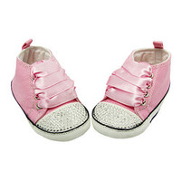 Dress Up Dreams Boutique Pink & White Sparkle Baby Bow Crib Shoe | zulily