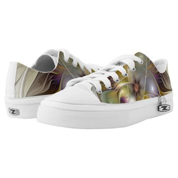 Abstract Fantasy Flower Fractal Art Printed Shoes