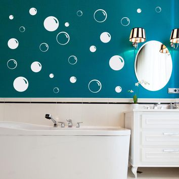 Bubbles Wall Decal - Bubble Bathroom Decal - Soap Bubble - Bathroom Decor - Bubble Set of 25