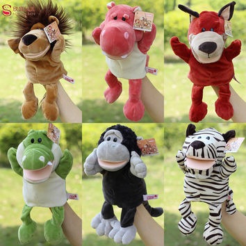 1 Pcs Children Animal Puppet Toy Classic  Large Hand Puppet Plush Doll Learning Educational Novelty Cute Dog Monkey Lion Muppet