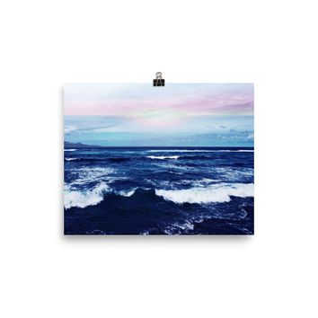 Reiki Charged Ocean Poster Yoga Meditation Mandala Wall Hanging