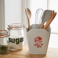 Takeout Box Utensil Holder