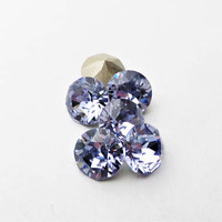 Six Provence Lavender 8mm 1088 Foiled Swarovski Xirius Pointed Back Chaton Crystal DKSJewelrydesigns