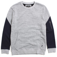 XO Crewneck Sweatshirt Grey Marle / Navy