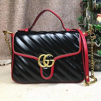 Gucci Fashion Women Shopping Leather Handbag Crossbody Satchel Shoulder Bag Black