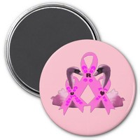 Care Courage Love Pink Swans Magnet