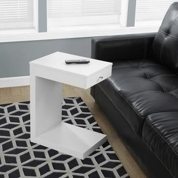 MHS-I 3192 White Accent Table With Drawer