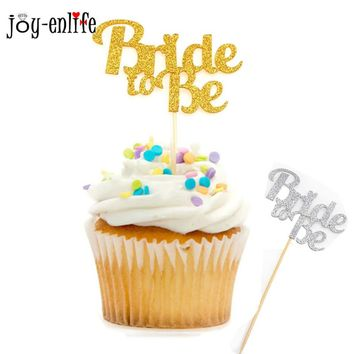 JOY-ENLIFE BRIDE TO BE cupcake topper wedding party supplies Bridal shower Bachelor party cake decoration cake topper favor