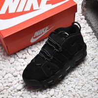 Nike Air More Uptempo Triple Black Basketball Shoes - Best Online Sale