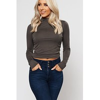 One Call Away Cropped Top (Military Olive)