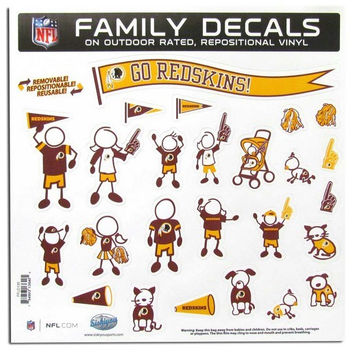 "Washington Redskins 11""x11"" Family Car Decal Sheet"