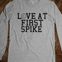 Love At First Spike-Unisex Heather Grey T-Shirt