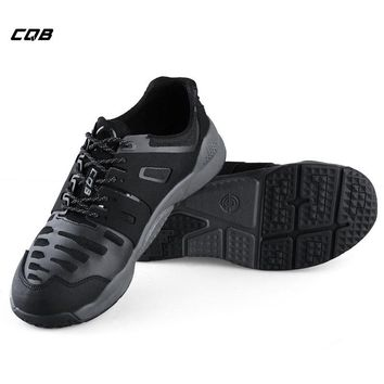 CQB Outdoor Sport Tactical Military Trekking Sneaker for Climbing Hiking Men's Low Wear-resistant Combat Boots for Camping