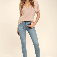 Project Social T Utility Blush Pink Tee