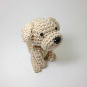 Amigurumi Labrador Retriever Dog Yellow Lab Dog Handmade Crochet Dog Stuffed Animal Doll / Made to Order