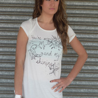 Sun Moon and Shining Star Graphic Tee by Cantata {Ivory}