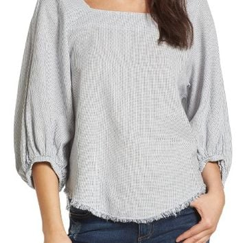 Velvet by Graham & Spencer Woven Stripe Top | Nordstrom