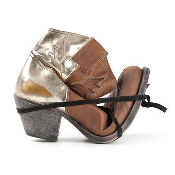 Golden Goose Deluxe Brand metallic panel ankle boots