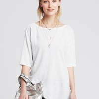 Banana Republic Womens Linen Boatneck Tunic