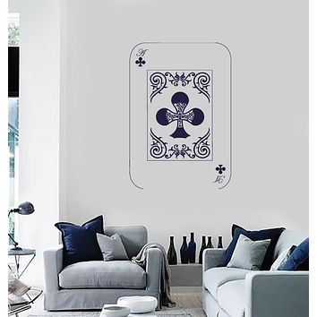 Vinyl Decal Wall Sticker Playing Cards Deck Ace Crosses Poker Unique Gift (n684)
