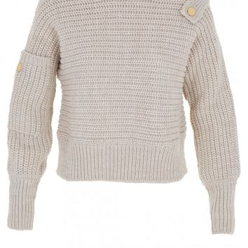 Tibi Ribbed Wool Oversized Easy Sweater