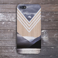 Chevron Lake x Mountains Wood Case for iPhone 6 6+ iPhone 5 5s 5c iPhone 4 4s and Samsung Galaxy s5 s4 & s3