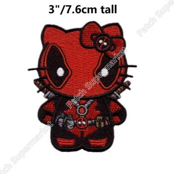 Deadpool Dead pool Taco SUPERHERO   Logo Tactical Hook & Loop MARVEL patches Movie TV Series Embroidered badge stickers For Clothing AT_70_6