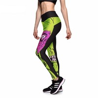 Zombie Face Athletic Leggings