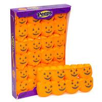 Peeps Marshmallow Halloween Candy Packs - Pumpkins: 24-Piece Case
