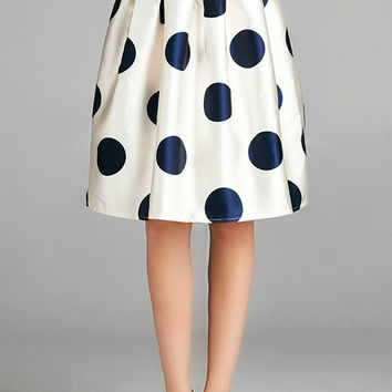 Silk Polka Dot Skirt