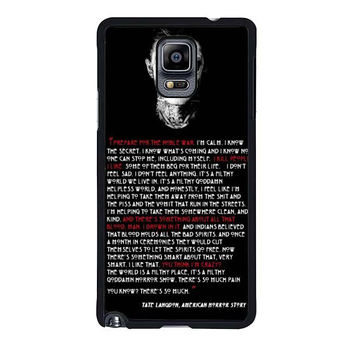 tate langdon evan peters samsung galaxy note 4 note 3 2 cases