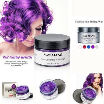 Universal 120ml Modeling Dyeing Hair Wax Solid Mud Easy Color Disposable Dyeing Wax Hair Styling