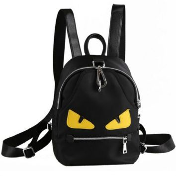 Fendi New fashion eye travel shopping women backpack Black