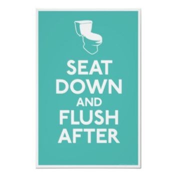 Bathroom Humor Print from Zazzle.com