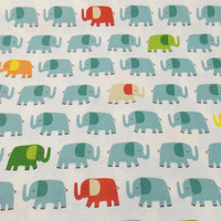Elephant Fabric Nursery Fabric Elephants Cotton Fabric Curtain Fabric Pillow Fabric Nursery Room Accessory