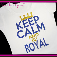 Royals KC Shirt Keep Calm Shirt Kansas City Baseball Glitter Bling Shirt Custom