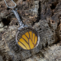 Monarch Magnifying Glass Necklace