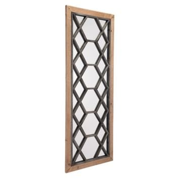 Steel Moroccan Mirror, In Brown