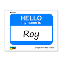 Roy Hello My Name Is Sticker