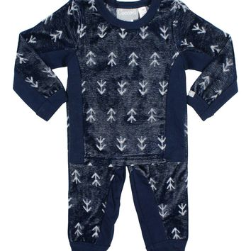 Coccoli Boys' Licorice Velour Pyjama