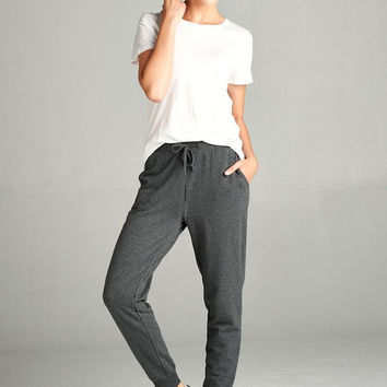French Terry Jogger Pants - Charcoal