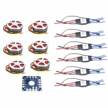 F05423-A 6 Sets 350KV Brushless Disk Motor High Thrust With Mount +40A ESC For 3-6s Hexacopter Multi Rotor Drone