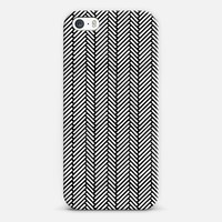Herringbone Black iPhone & iPod case by Project M | Casetagram